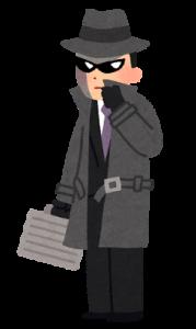 スパイの男性のイラスト