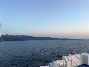 新日本海フェリーからみる積丹半島