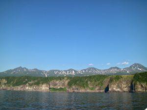 Shiretoko mountain range sea